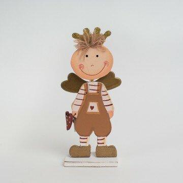 """Фигурка деревянная """"Мальчик-ангел"""" 18 см"""