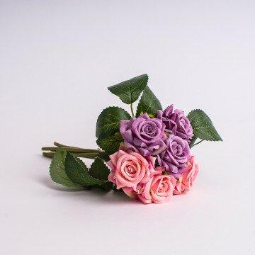 Букет роз двухцветный