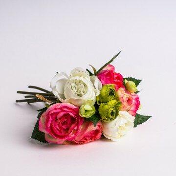 Букет рунункулюса салатово-розовый