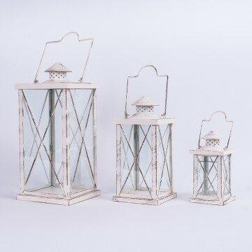 Набор декоративных металлических фонарей хрестик (3шт)