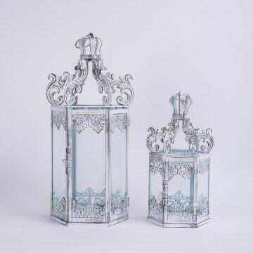 Набор декоративных фонарей с ажурным, открытым верхом-2шт