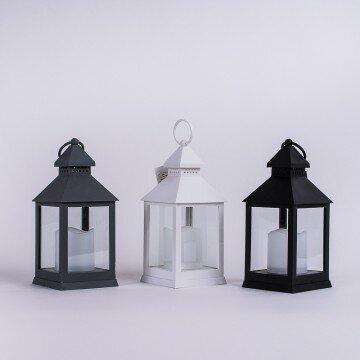 Фонарь декоративный с LED свечой- 25x10x10см