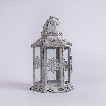 Фонарик декоративный металлический снежинка 20х11х11см