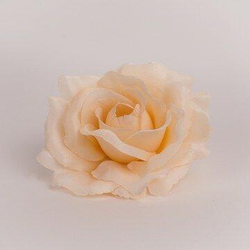 Головка розы раскрытой розово-персиковая