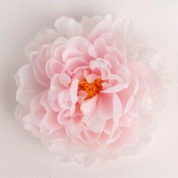 Головка пиона холодно-розовая шелковая