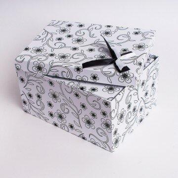 Набор коробок цветочек 3шт