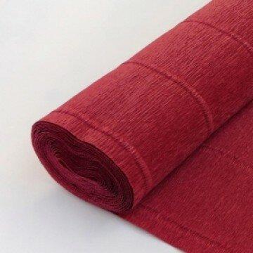Бумага гофрированная кирпично-красная 583