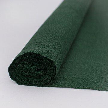 Бумага гофрированная глубоко зеленая 561