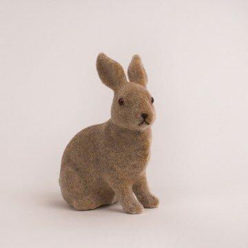 Кролик пасхальный 11х13см коричневый