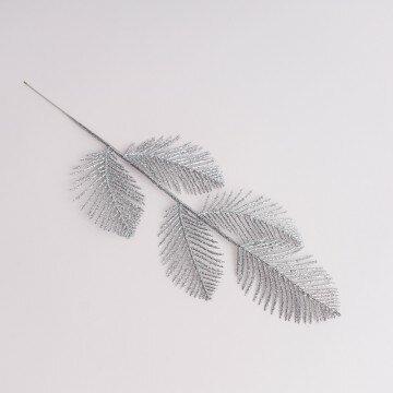 ветка декоративная серебрянная 08