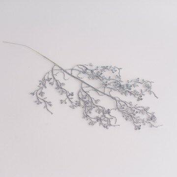 ветка декоративная серебрянная 013